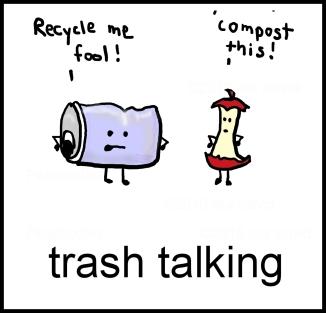 trash talking square template w social media